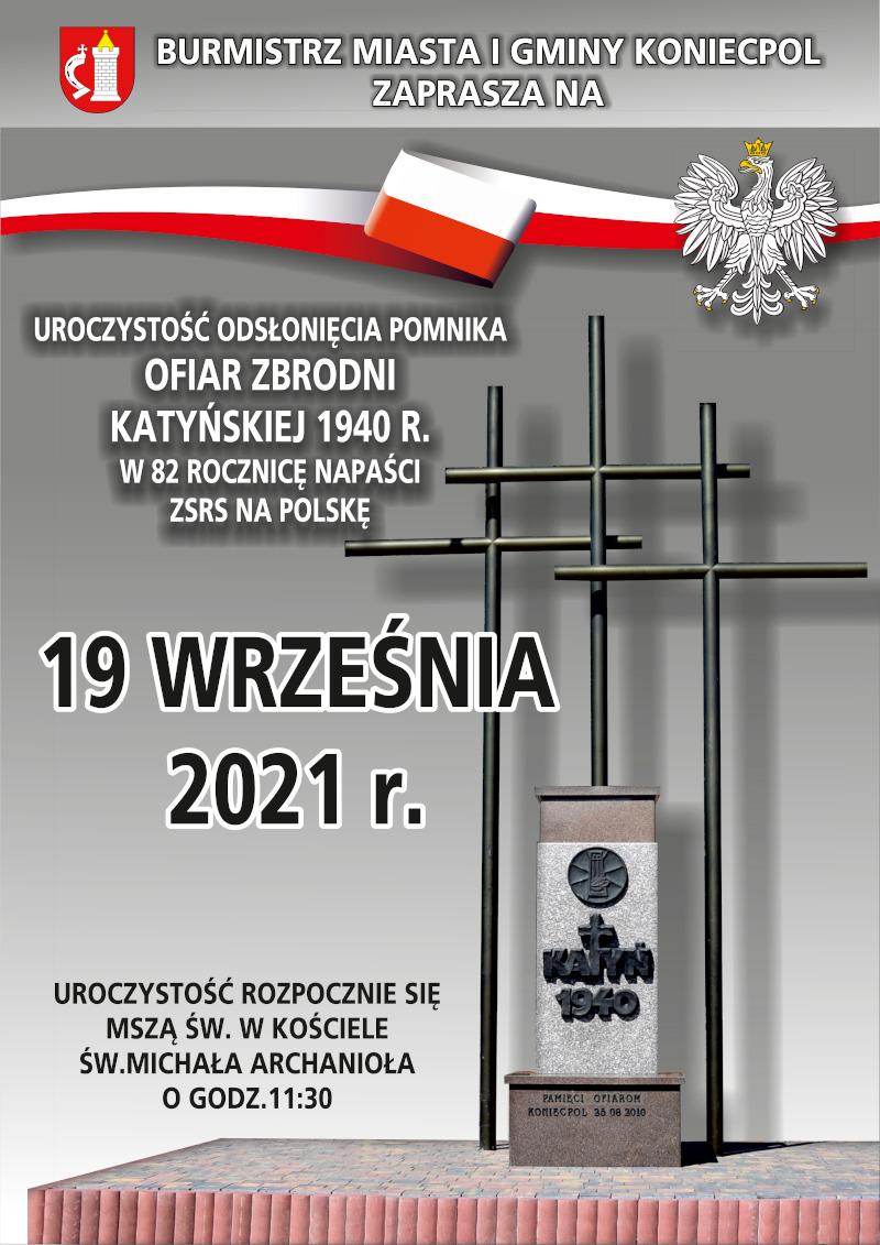 Uroczystość odsłonięcia Pomnika Katyńskiego