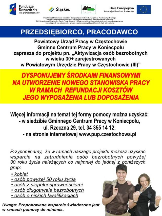 Ogłoszenie PUP Częstochowa