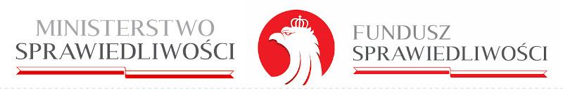 Logotypy Ministerstwa Sprawiedliwości i Funduszu Sprawiedliwości