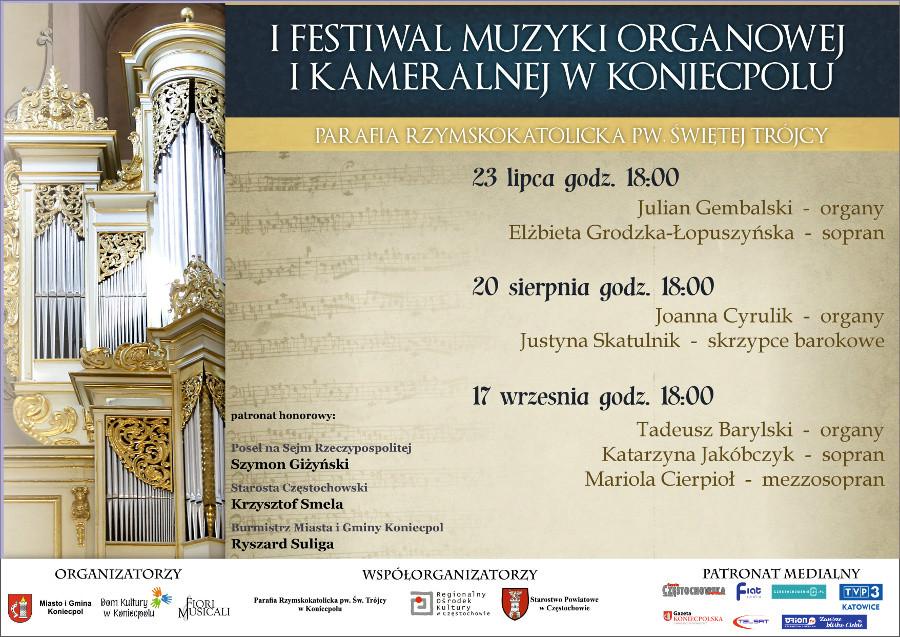 I Festiwal Muzyki Organowej i Kameralen w Koniecpolu