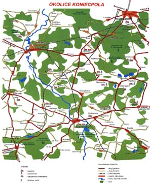 Mapka okolic Koniecpola